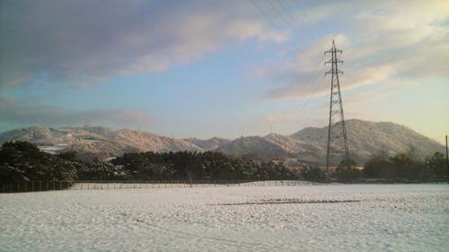 瀬戸内海地方が雪景色に